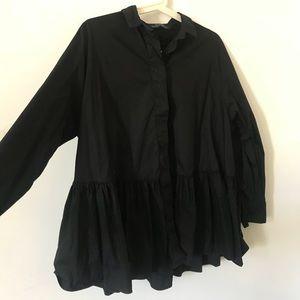 Zara Black button down Shirt